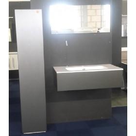 Badkamermeubel (90cm) met bijpassende kast