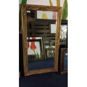 Spiegel facet met  lijst 76x137 cm
