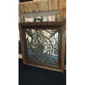 Spiegel met raster 90x90cm
